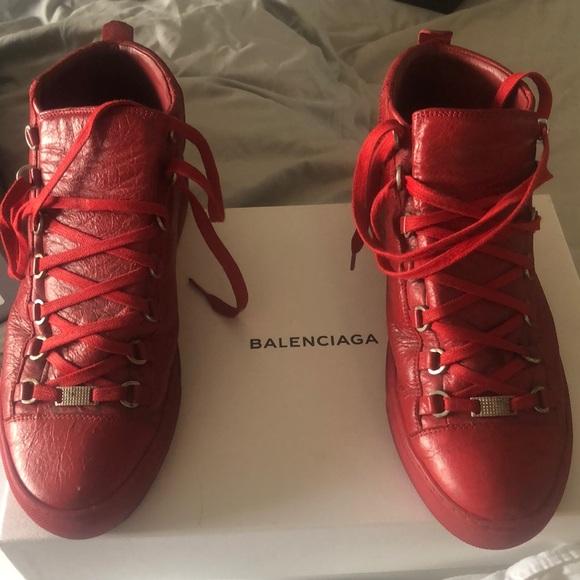 Balenciaga Shoes   Stadium Red Mens